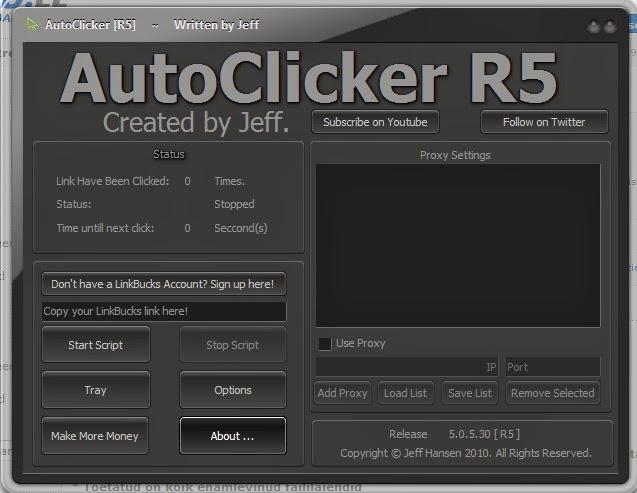 auto clicker r5 pour linkbucks